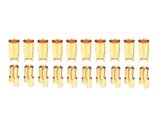 10 Paar 6,0mm Goldkontaktstecker geschlitzt + Buchsen #587816