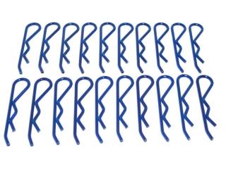 20x Karosserie Klammer groß 46mm , blau