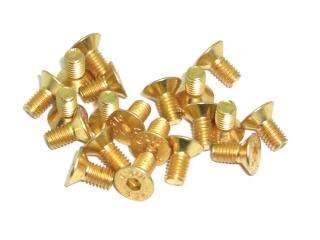 20x M2x8 DIN7991 goldene Senkkopfschraube Stahl 10,9 Titan Nitrid beschichtet