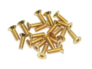 20x M3x10 DIN7991 goldene Senkkopfschraube Stahl 10,9 Titan Nitrid beschichtet
