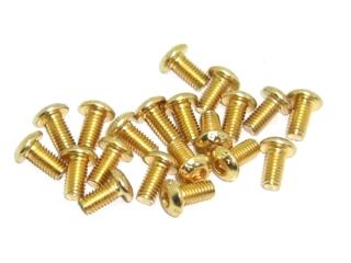 20x M3x6 ISO7380 goldene Linsenkopfschraube Stahl 12,9 Titan Nitrid beschichtet