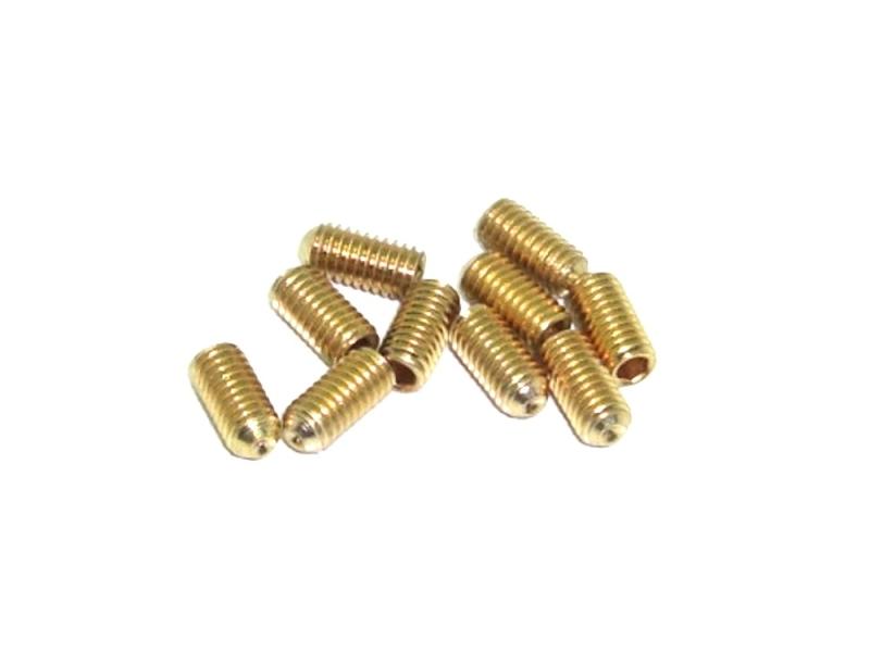 10x M3x6 goldende Madenschraube TIN DIN913 Gewindestift flach 45H