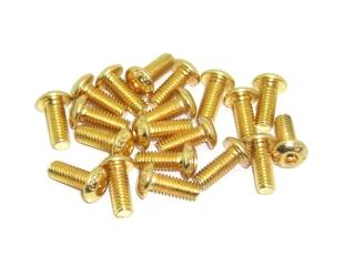 20x M4x10 ISO7380 goldene Linsenkopfschraube Stahl 12,9 Titan Nitrid beschichtet