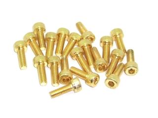 20x M4x12 DIN912 goldene Zylinderkopfschraube Stahl 12,9 Titan Nitrid beschichtet