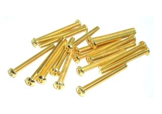20x M3x30 ISO7380 goldene Linsenkopfschraube Stahl 12,9 TIN Beschichtung