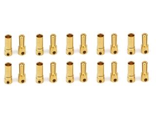 10 Paar 3,5mm Goldkontaktstecker geschlitzt + Buchsen #557805