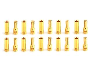 10 Paar 5,0mm Goldkontaktstecker geschlitzt + Buchsen #587814